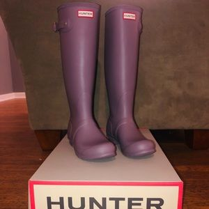Brand new Hunter boots with box NWT size 8